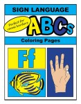 Sign Language Alphabet ABC Coloring Sheets & Room Border