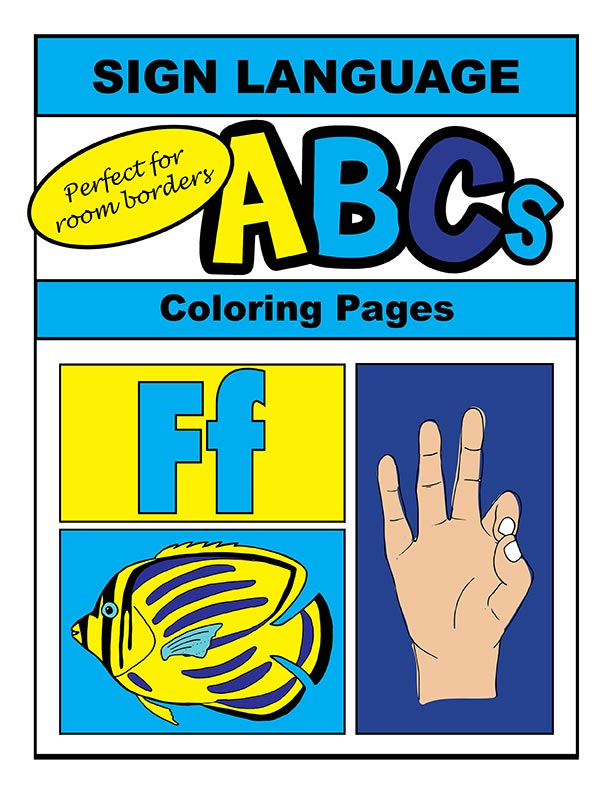 Sign Language Alphabet ABC Coloring Book
