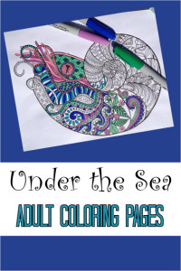 Under the Sea Adult Coloring pages