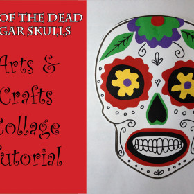 Day of the Dead Sugar Skull Collage Craft Tutorial