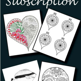 Free Monthly Coloring Page Subscription