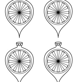 Free Paper Christmas Ornament Coloring Sheets & Templates