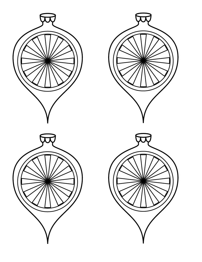 Free Paper Christmas Ornament Coloring Sheets Templates